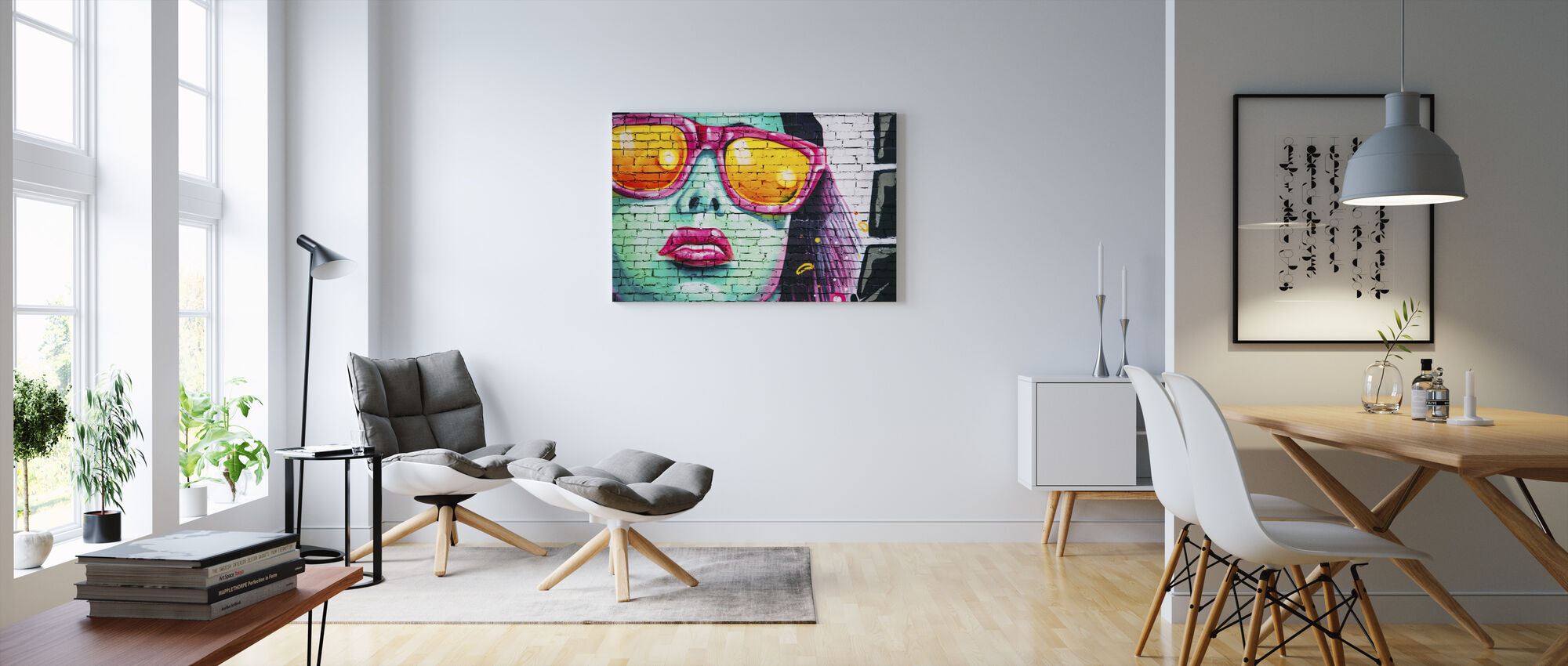 Colorful Wall Painting - Canvas print - Living Room