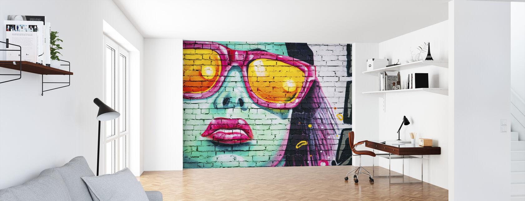 Pintura de pared colorida - Papel pintado - Oficina