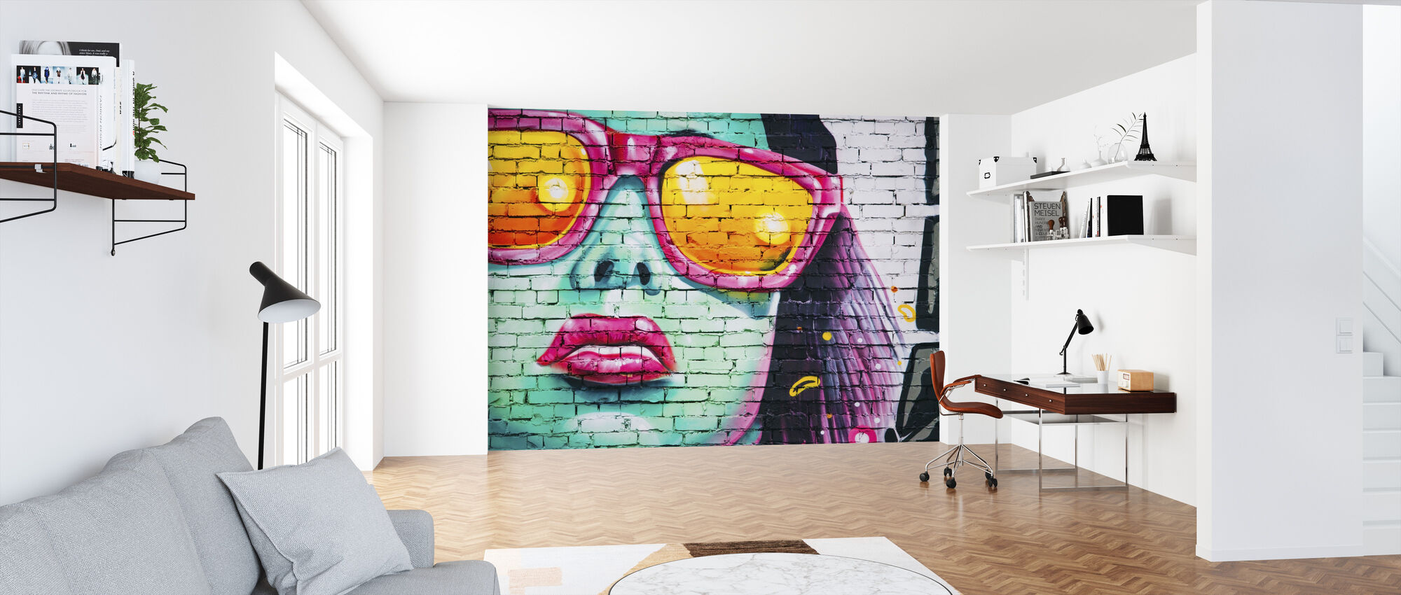 Colorful Wall Painting - Wallpaper - Office