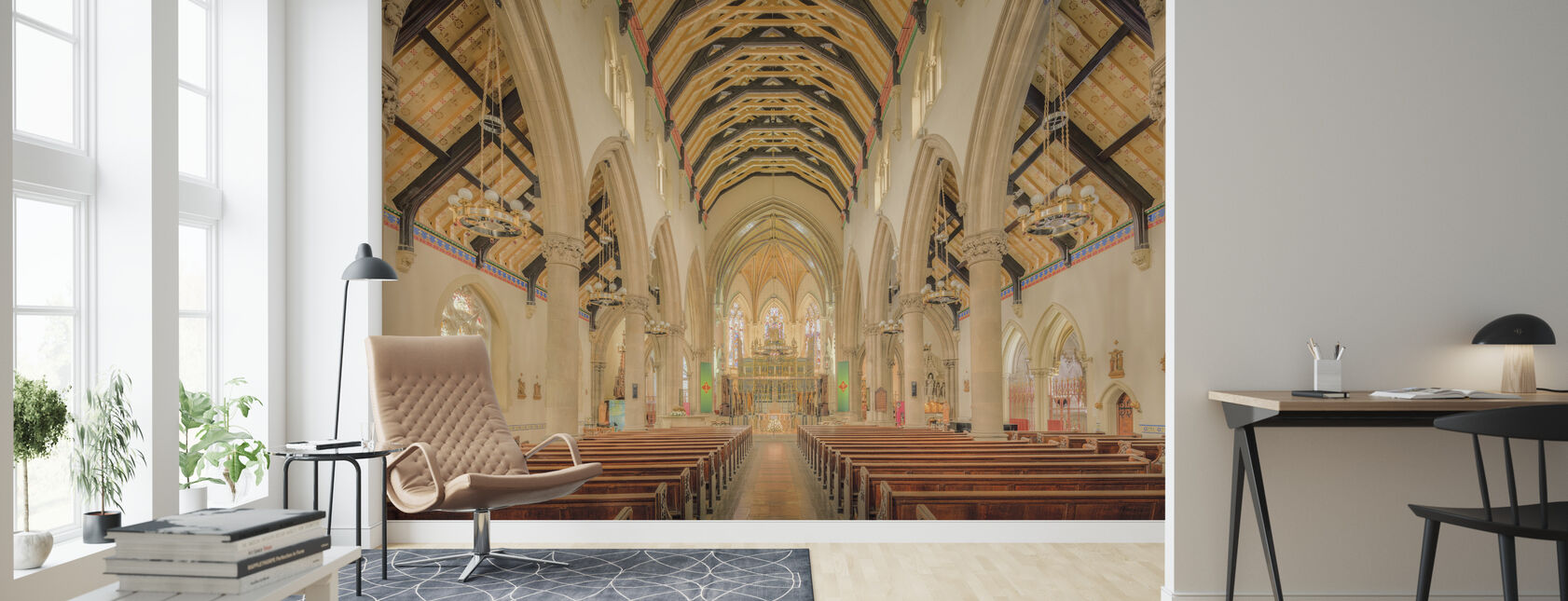 Sacred Catherdral Church - Wallpaper - Living Room