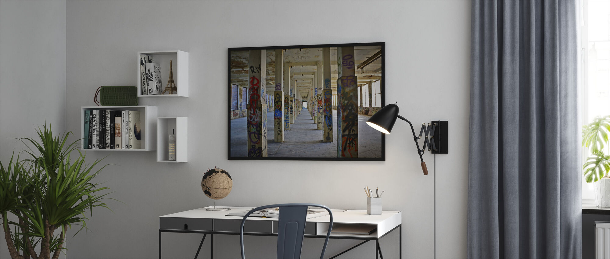 Old Industrial Factory Building - Framed print - Office