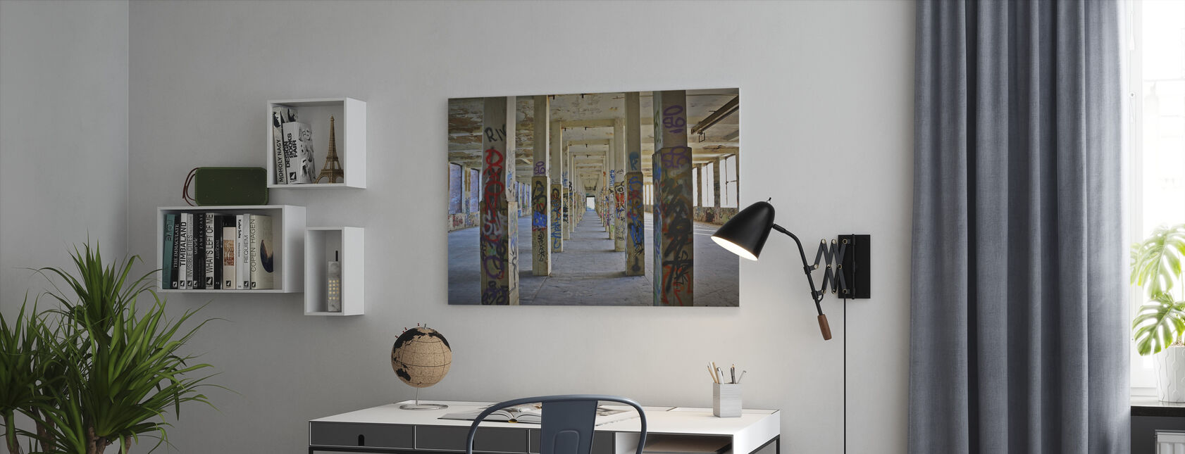 Old Industrial Factory Building - Canvas print - Office