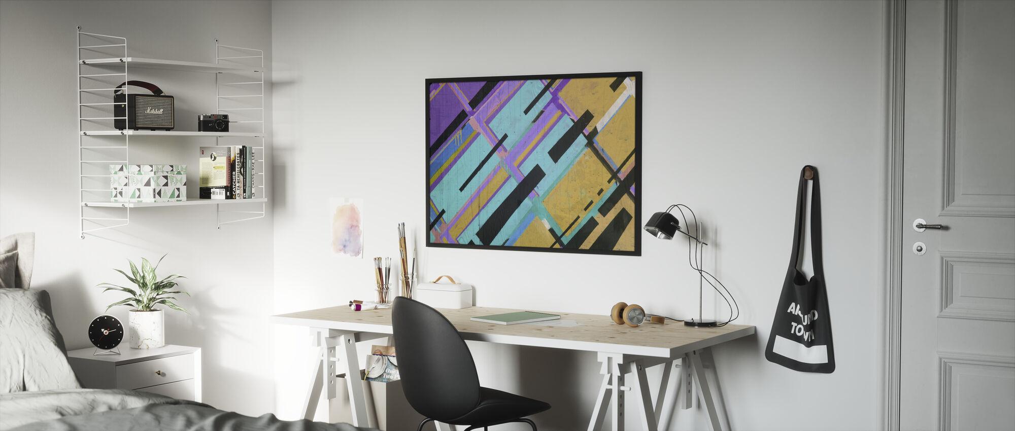 Colorful Street Art - Framed print - Kids Room