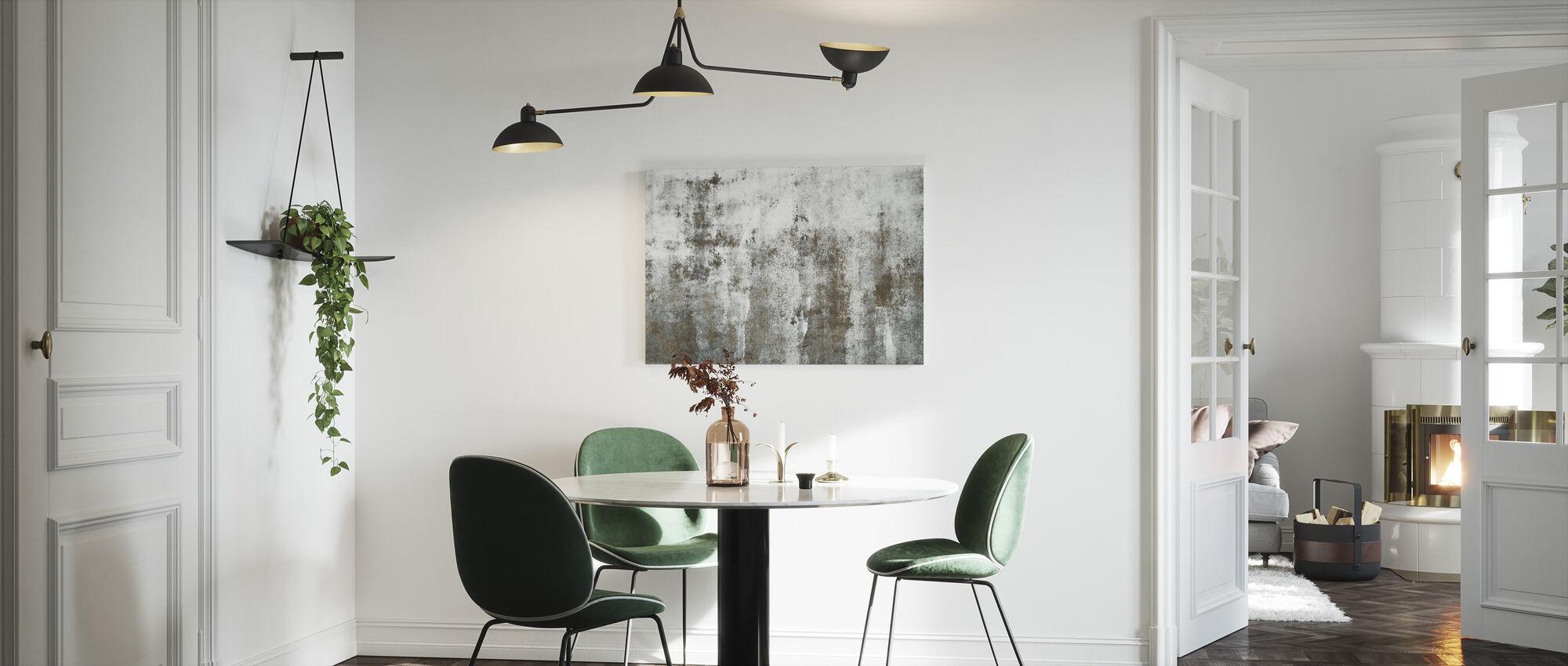 Vintage maalaismainen seinä - Canvastaulu - Keittiö