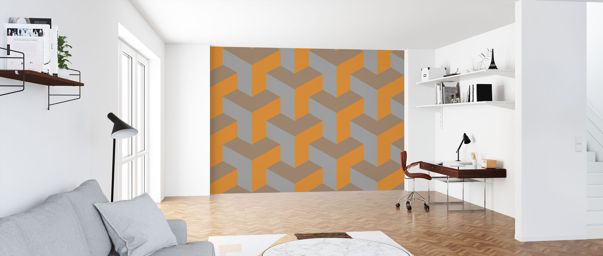 T Dog Grained - Wallpaper - Office