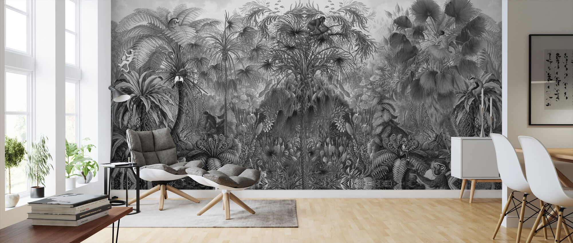 Monkey See Monkey - Wallpaper - Living Room