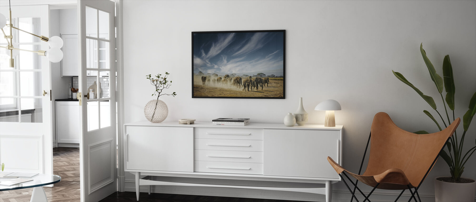A Very Long Thinking - Framed print - Living Room