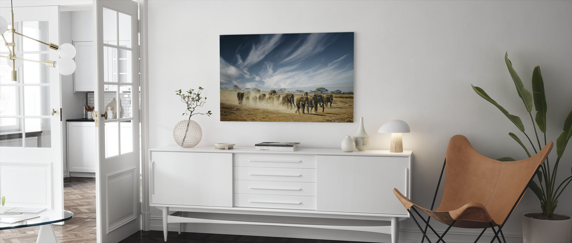 A Very Long Thinking - Canvas print - Living Room