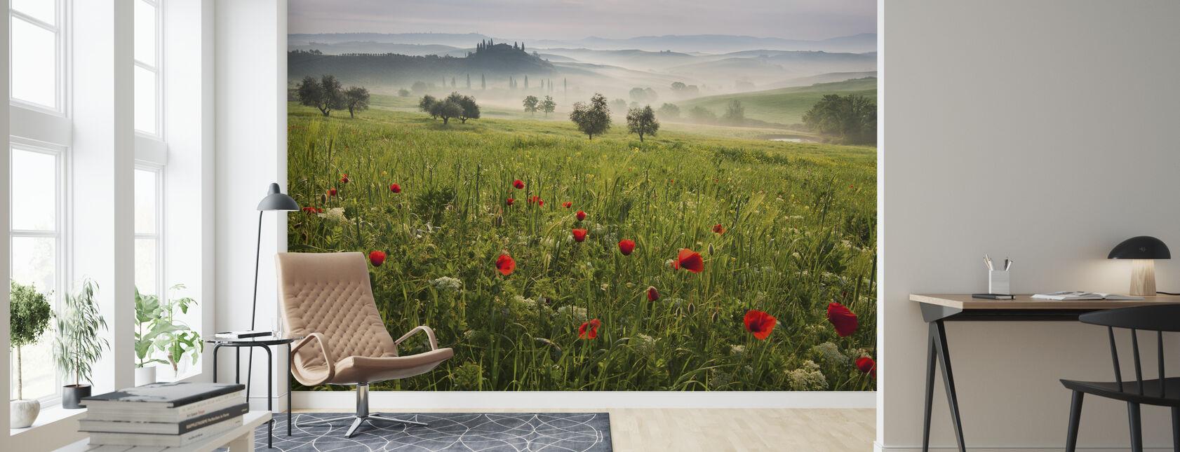 Toskanischer Frühling - Tapete - Wohnzimmer