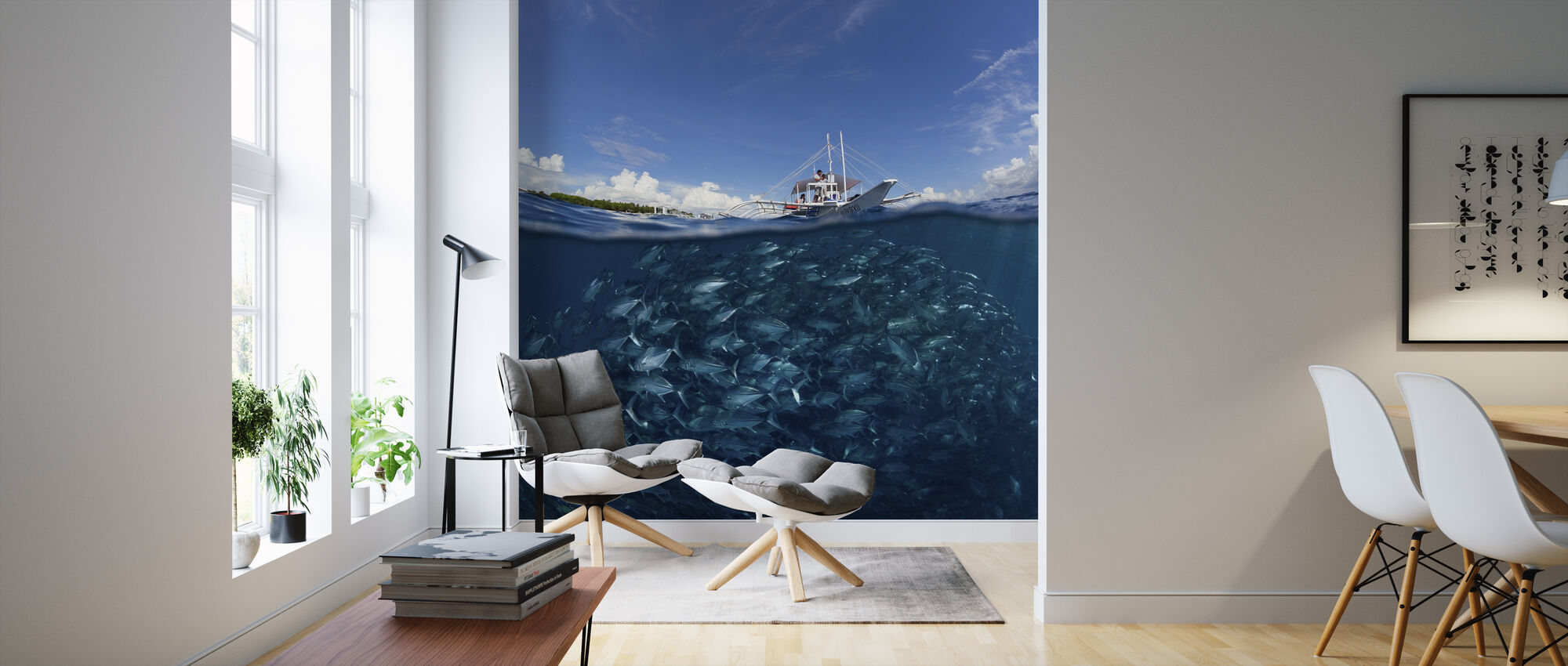 Go Diving - Wallpaper - Living Room