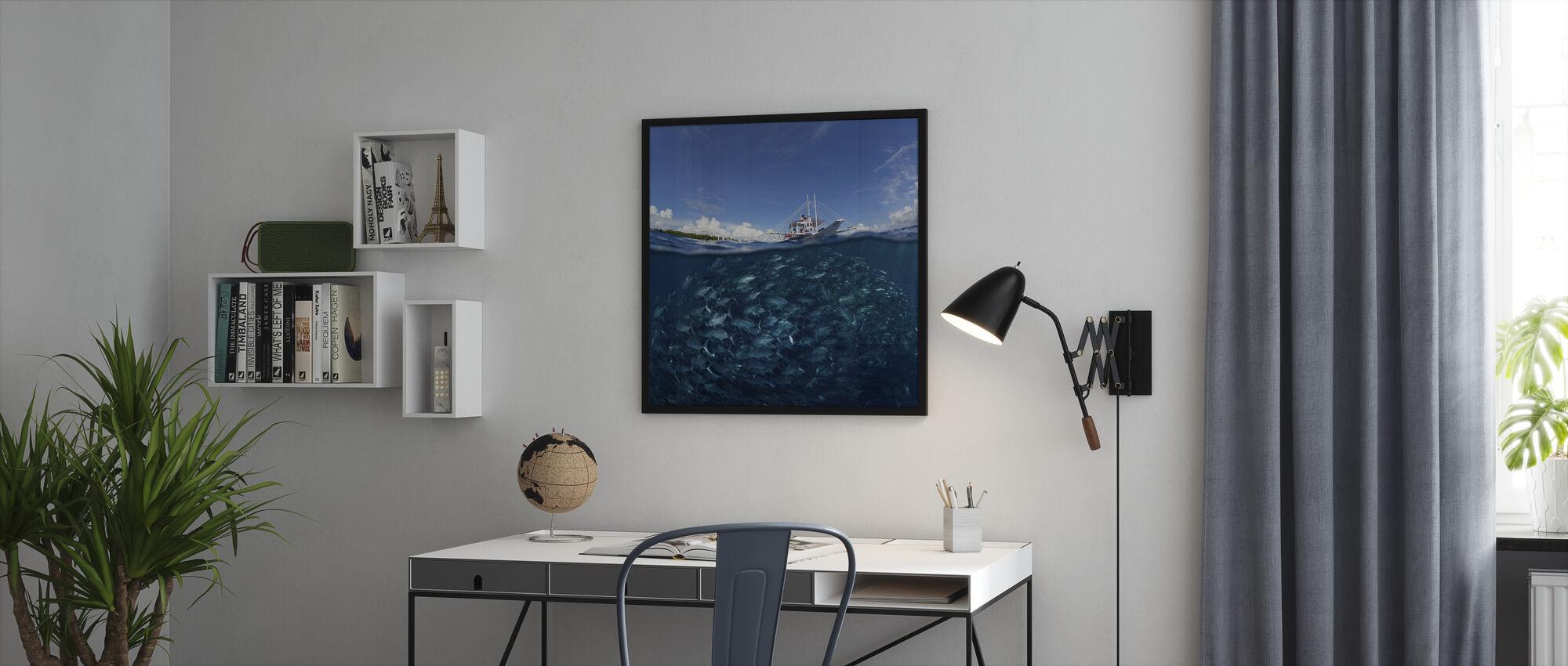 Go Diving - Framed print - Office