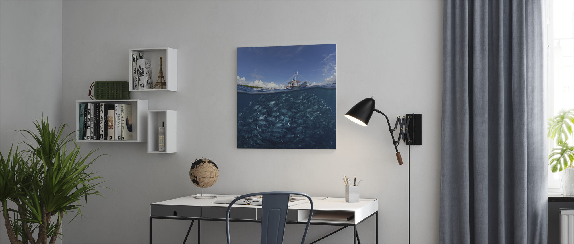 Go Diving - Canvas print - Office