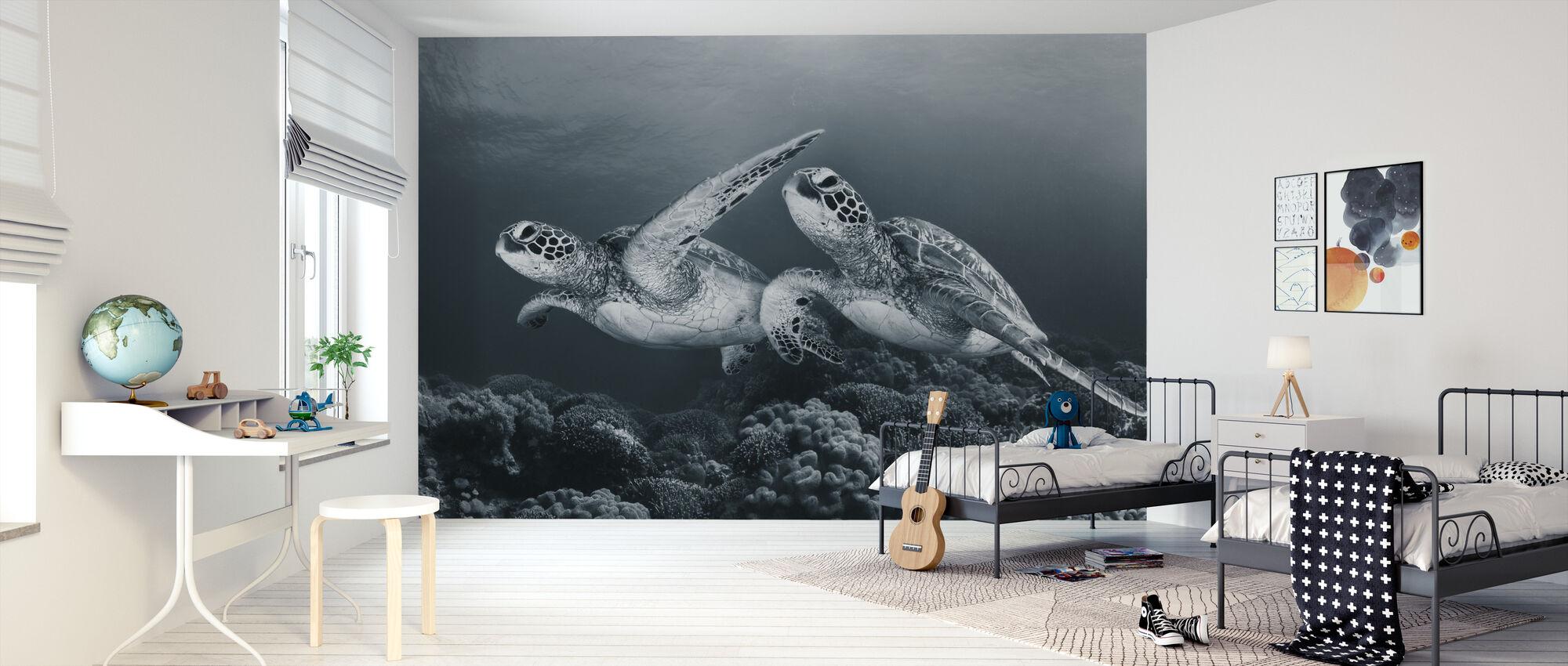 Twin Dance - Wallpaper - Kids Room