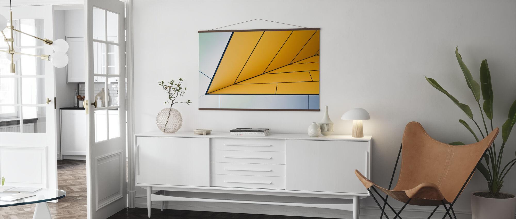 Yellow Dart - Poster - Living Room
