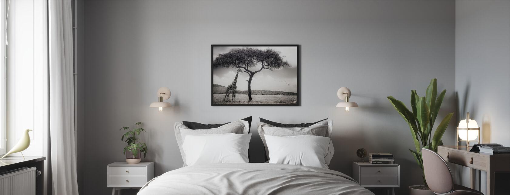 Afrikkalainen Auringon alla - Kehystetty kuva - Makuuhuone
