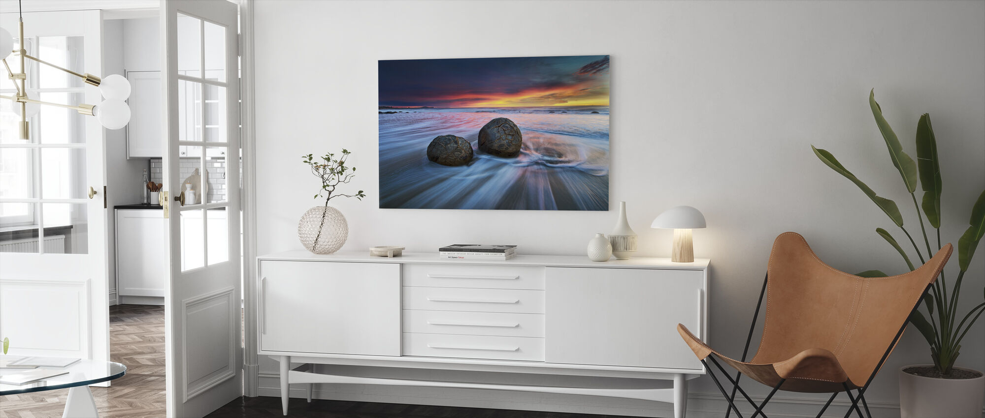 Moeraki Boulders - Canvas print - Living Room