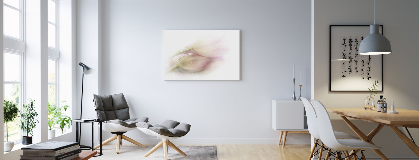 Touching - Canvas print - Living Room