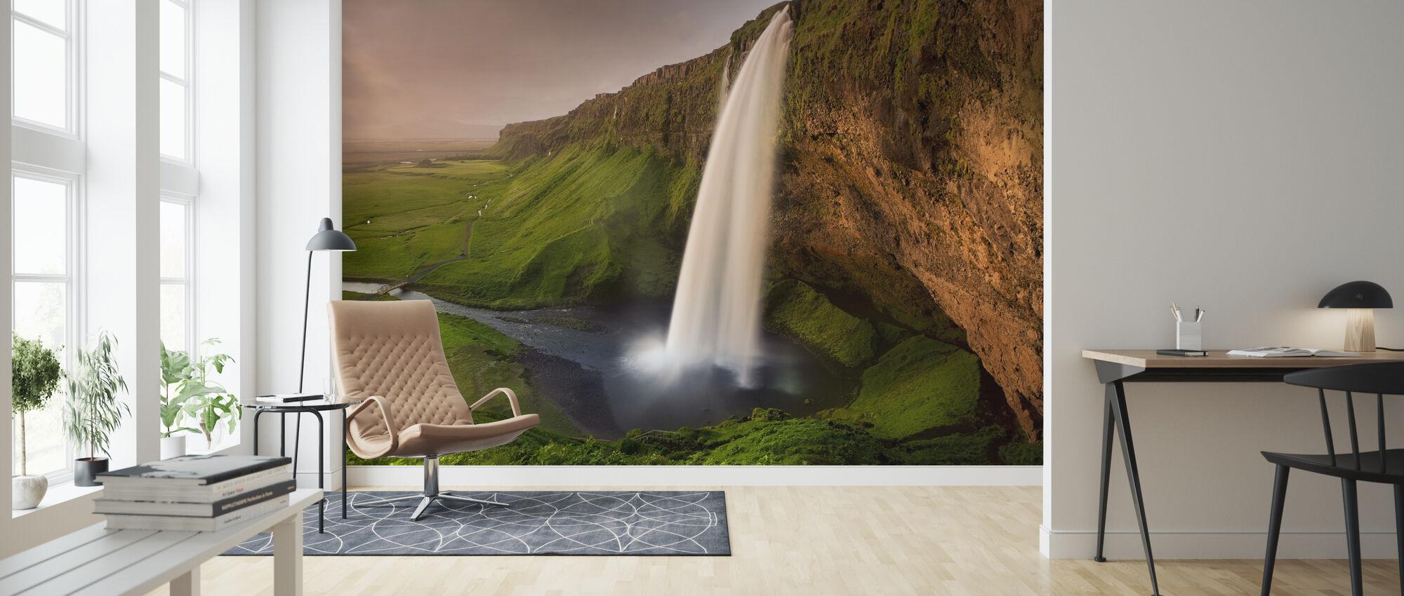 Seljalandsfoss - Wallpaper - Living Room