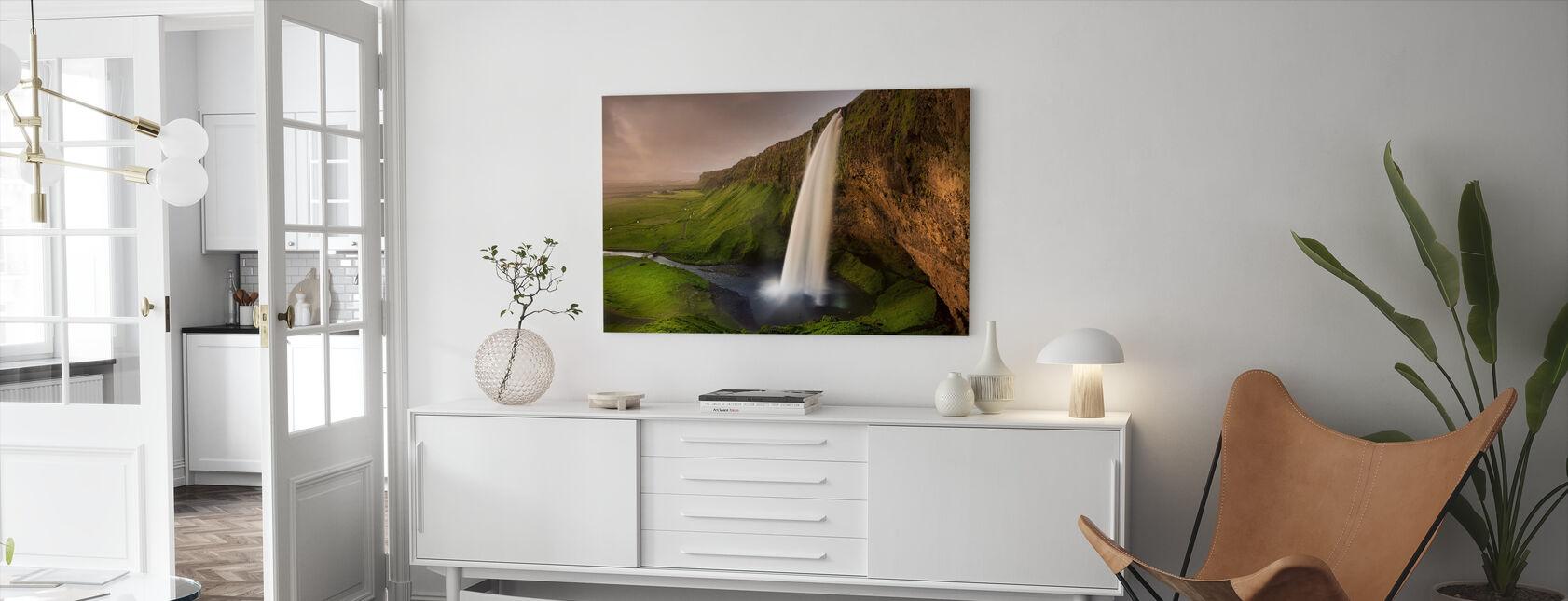 Seljalandsfoss - Leinwandbild - Wohnzimmer