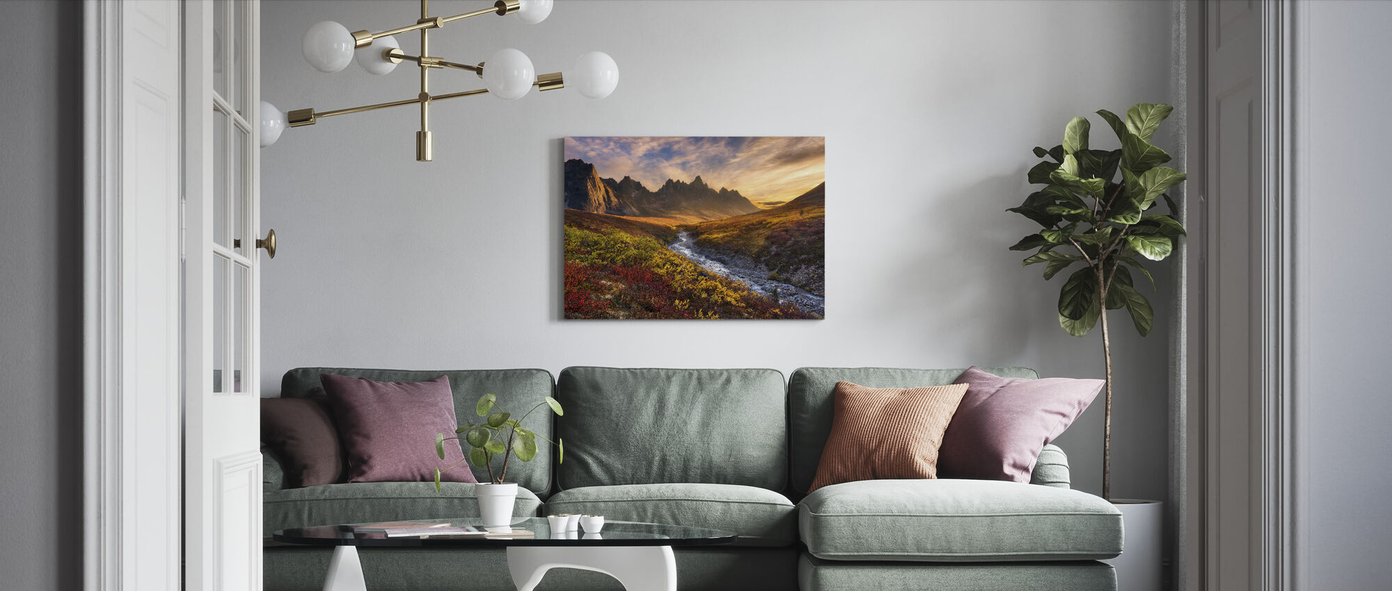 Mountain Paradise - Canvas print - Living Room
