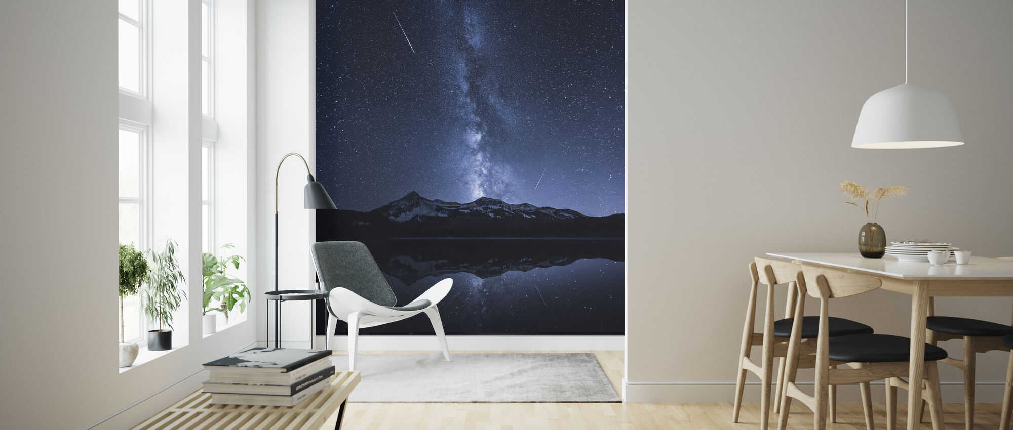 Galaxies Reflection - Wallpaper - Living Room