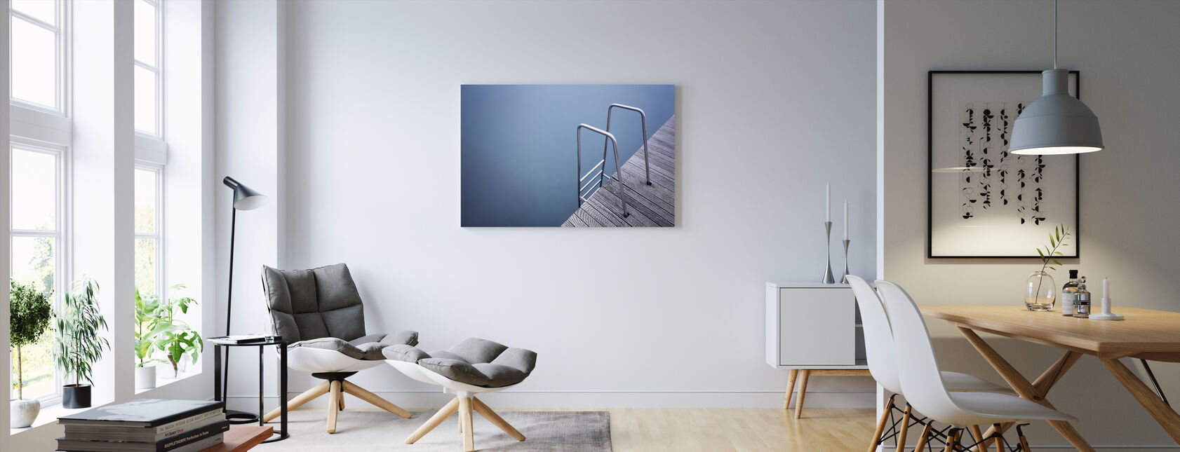 Stairs - Canvas print - Living Room