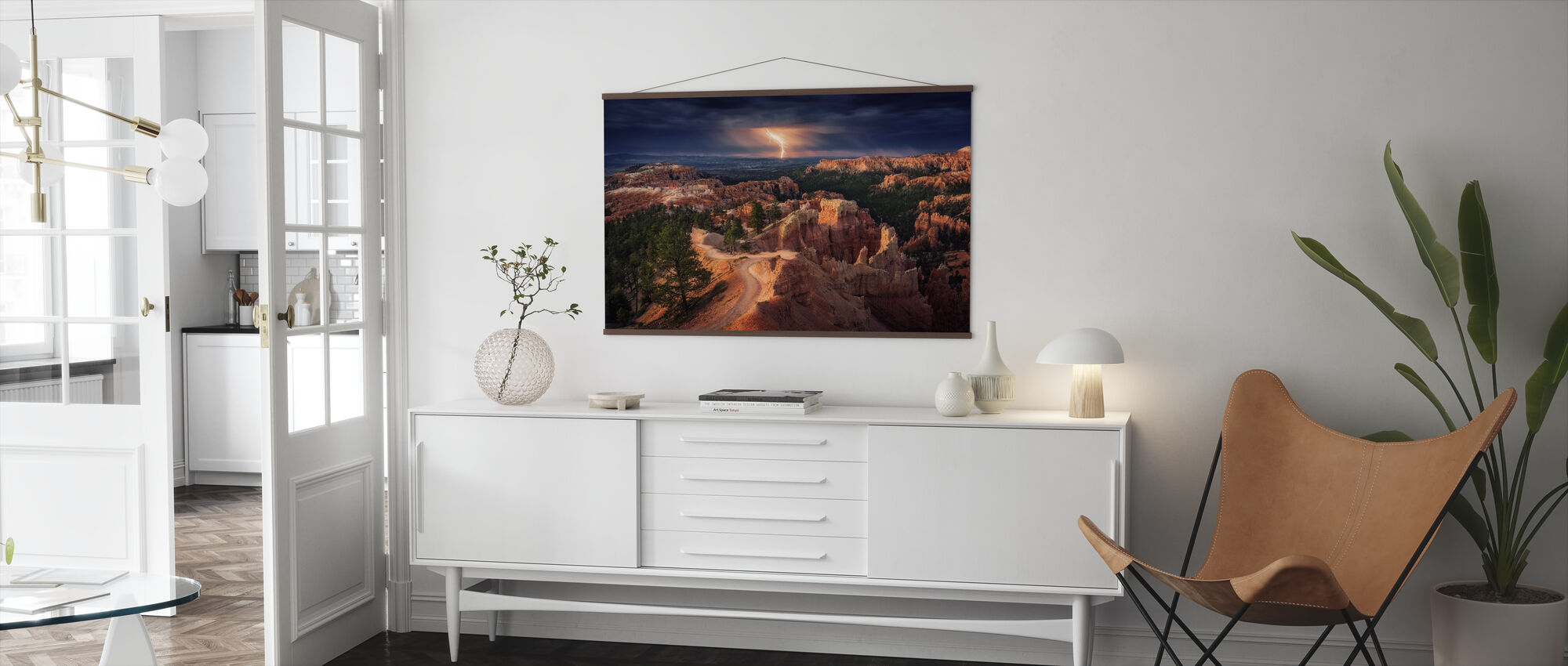 Lightning over Bryce Canyon - Poster - Living Room