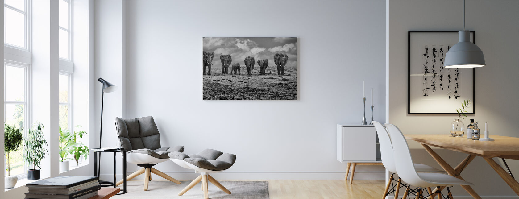 Grote Familie - Canvas print - Woonkamer