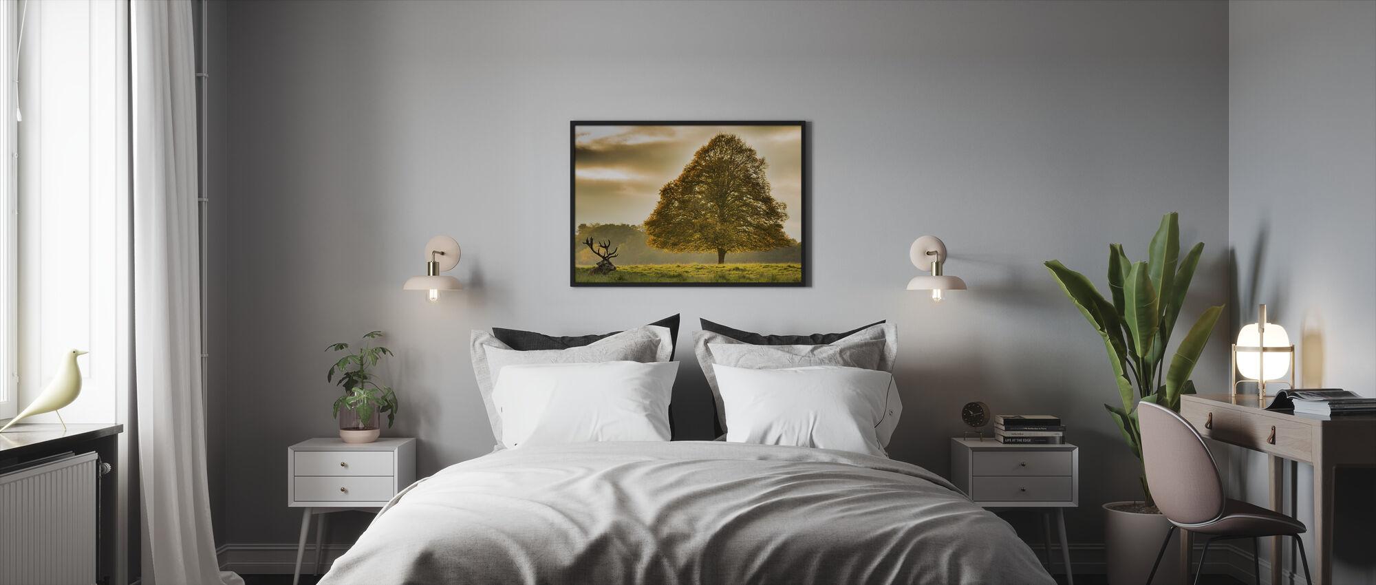 Deer and the Tree - Framed print - Bedroom