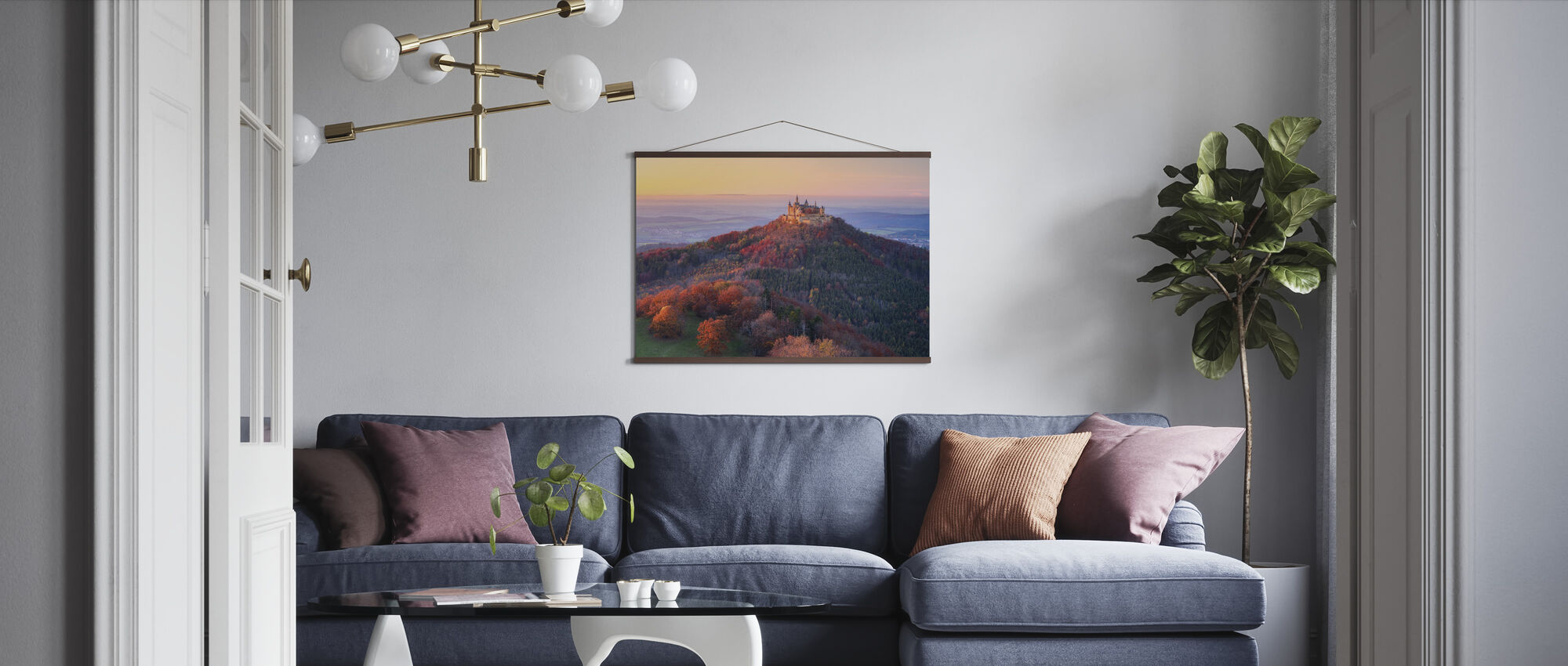 Golden Autumn Evening - Poster - Living Room