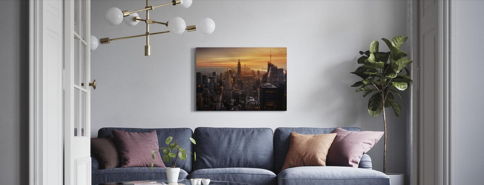 Manhattans lys - Lerretsbilde - Stue