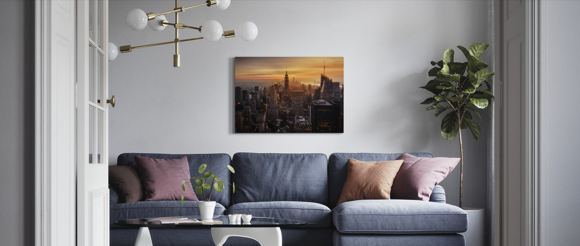 Manhattan's Light - Canvas print - Living Room