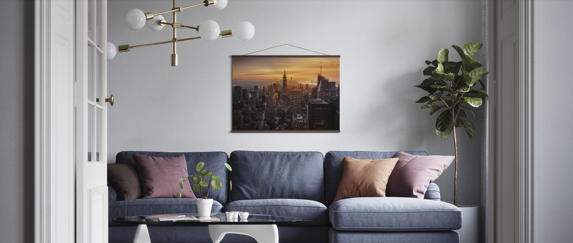 Manhattanin valo - Juliste - Olohuone