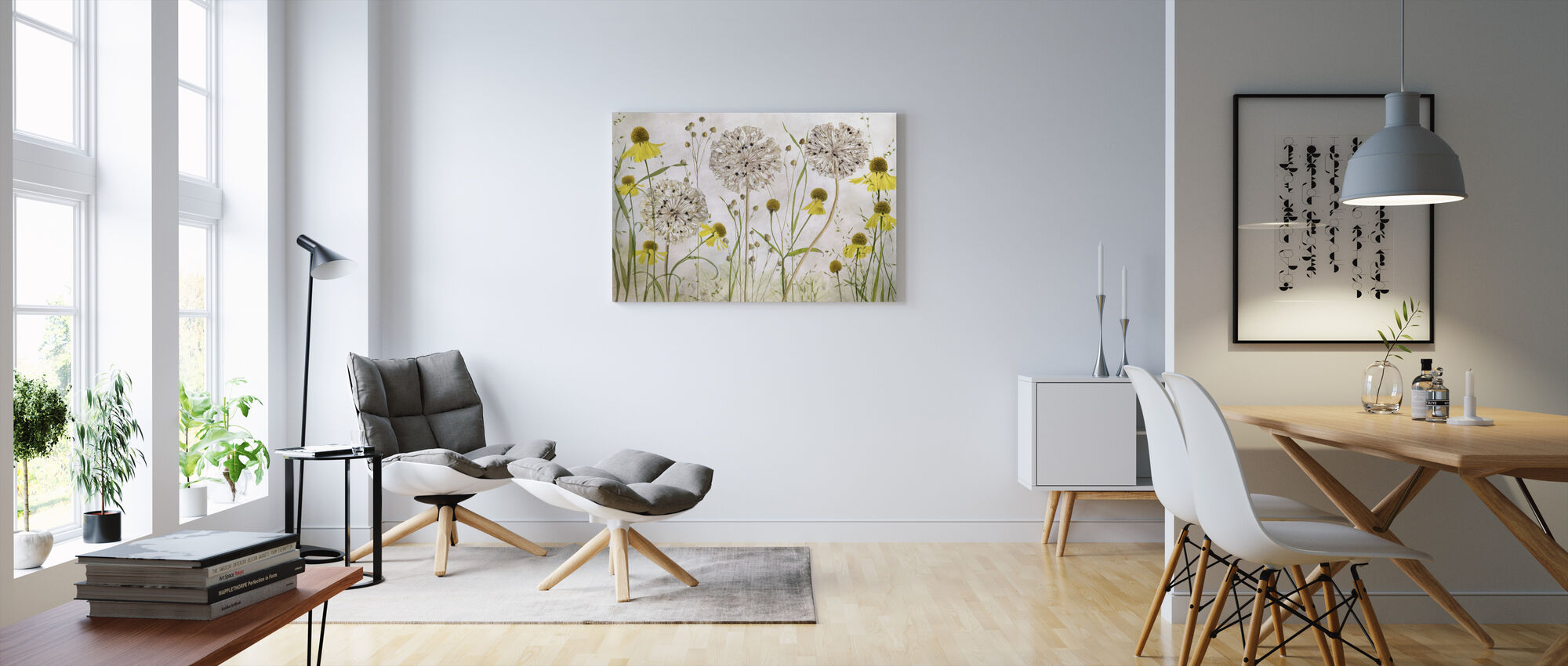 Alliums and Heleniums - Canvas print - Living Room