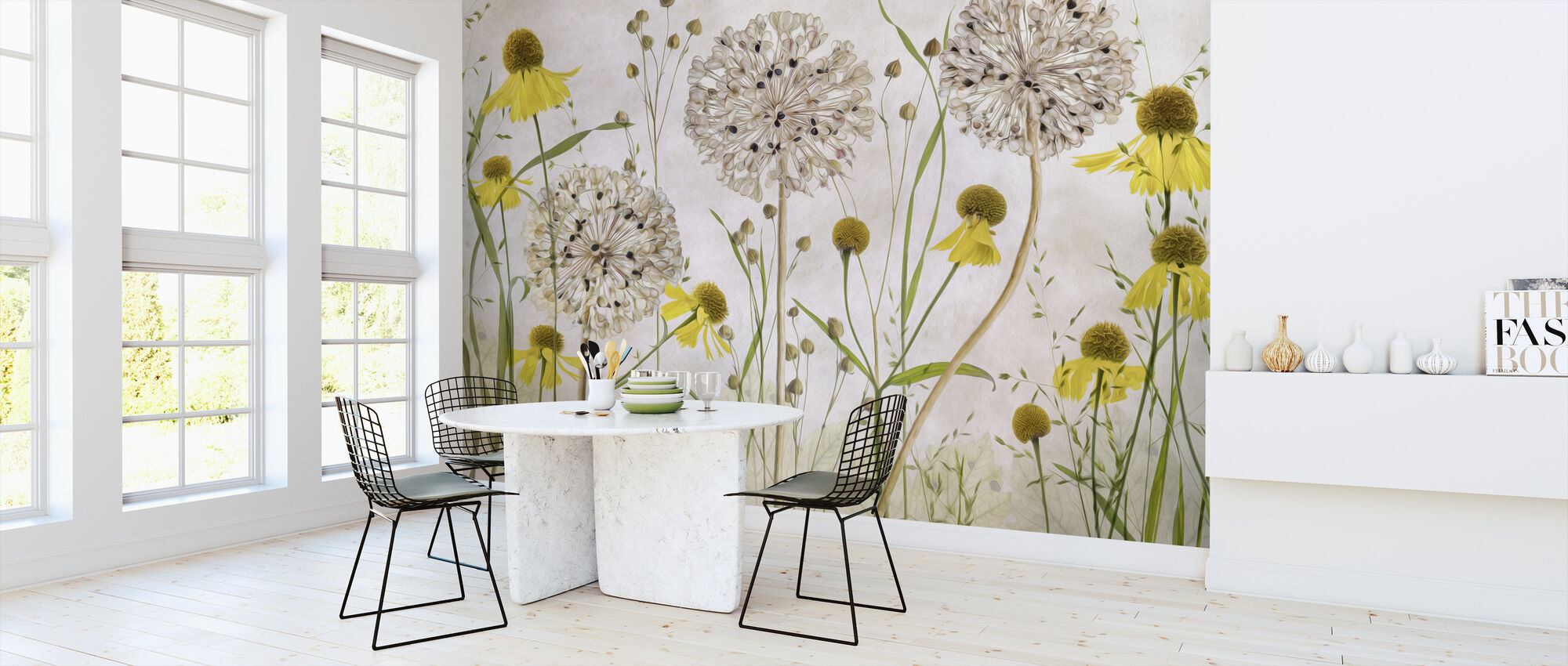 Alliums and Heleniums - Wallpaper - Kitchen