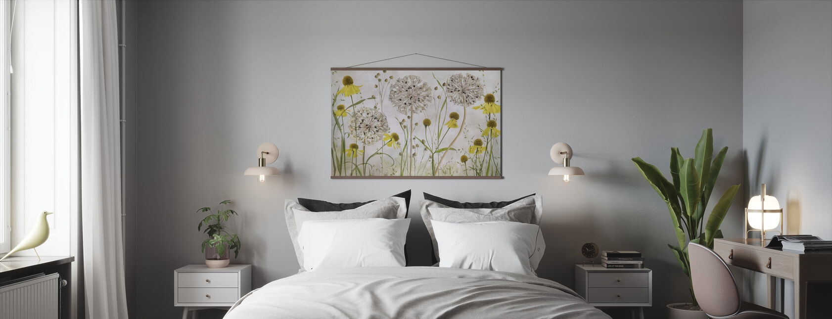 Alliums and Heleniums - Poster - Bedroom