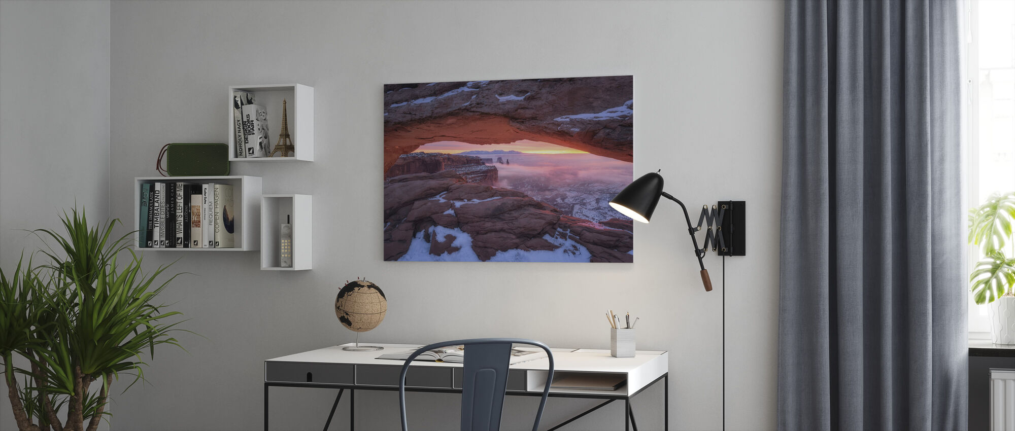 The Moment Right Before Sunrise - Canvas print - Office