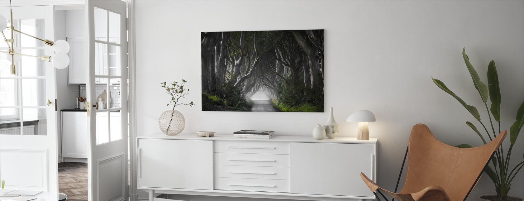 Dark Hedges - Canvas print - Living Room