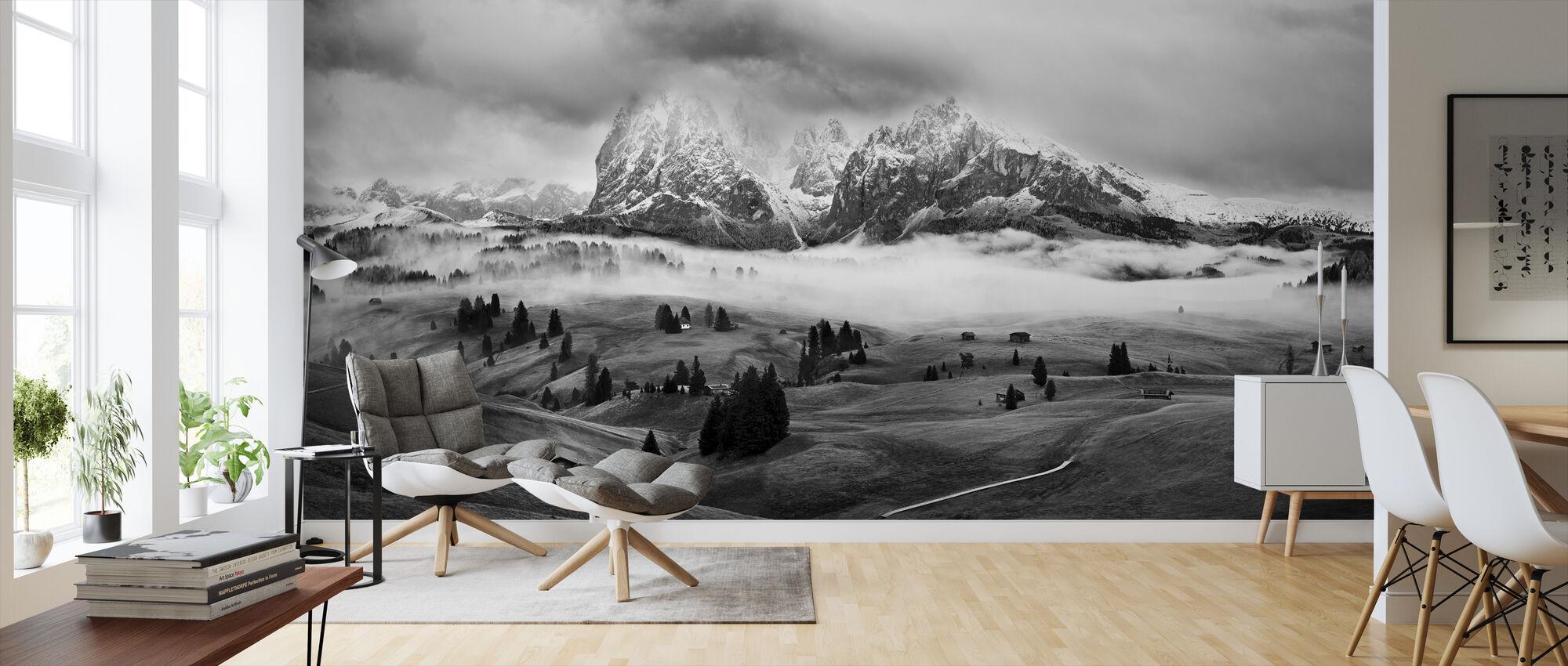 Foggy Dolomites - Wallpaper - Living Room