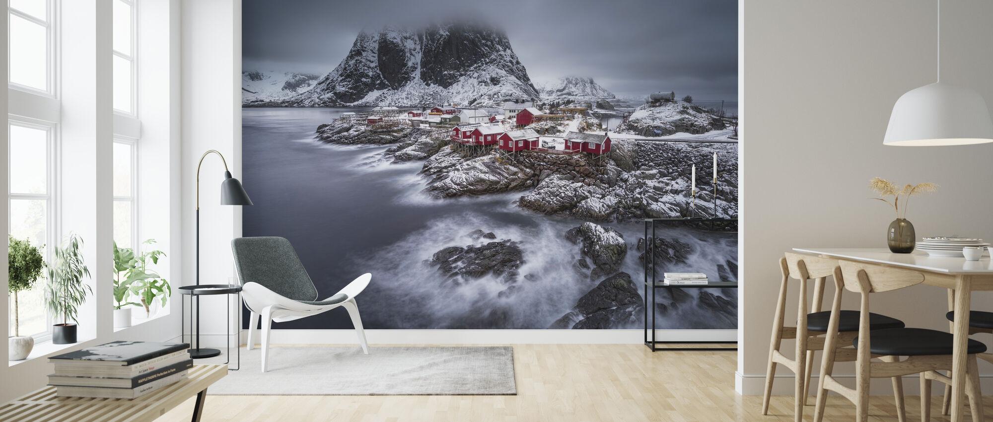 Winter Lofoten Islands - Tapet - Stue