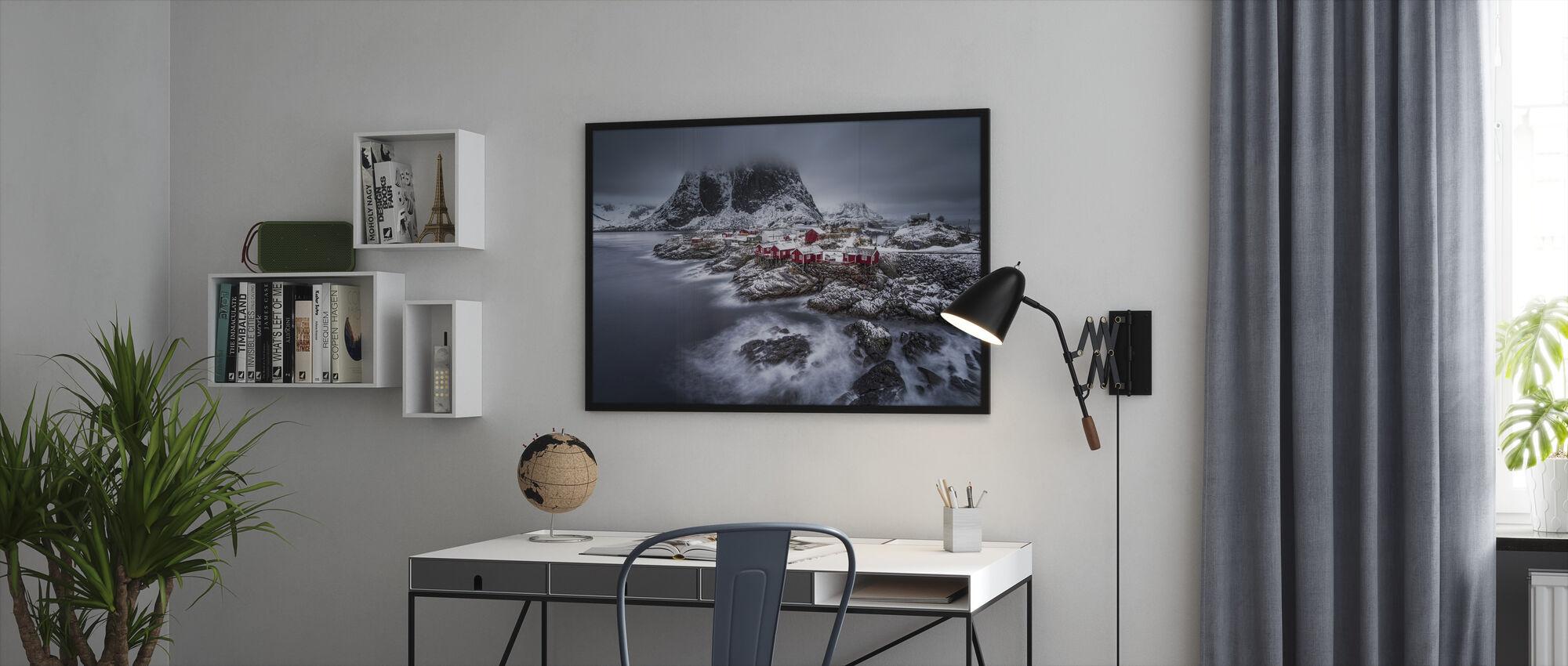 Winter Lofoten Islands - Innrammet bilde - Kontor