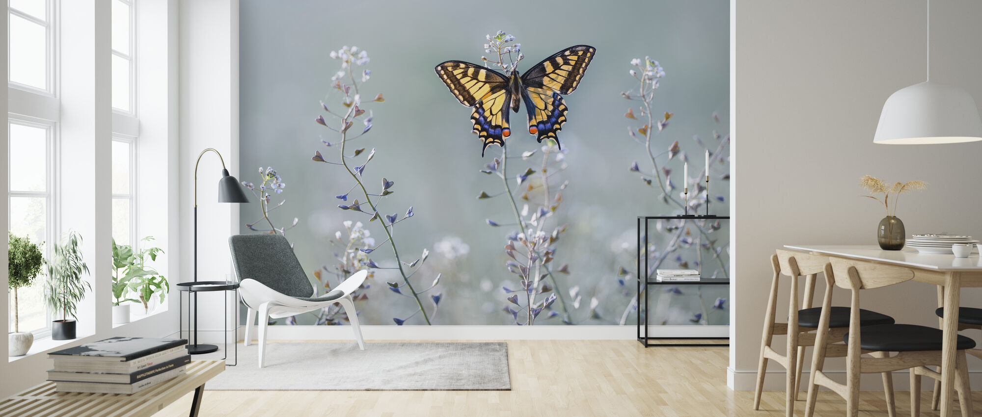Swallowtail Beauty - Wallpaper - Living Room