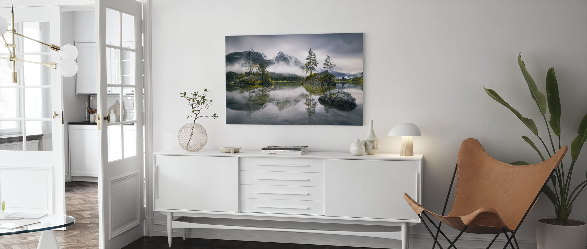 Rainy Morning at Hintersee (Bavaria) - Canvas print - Living Room