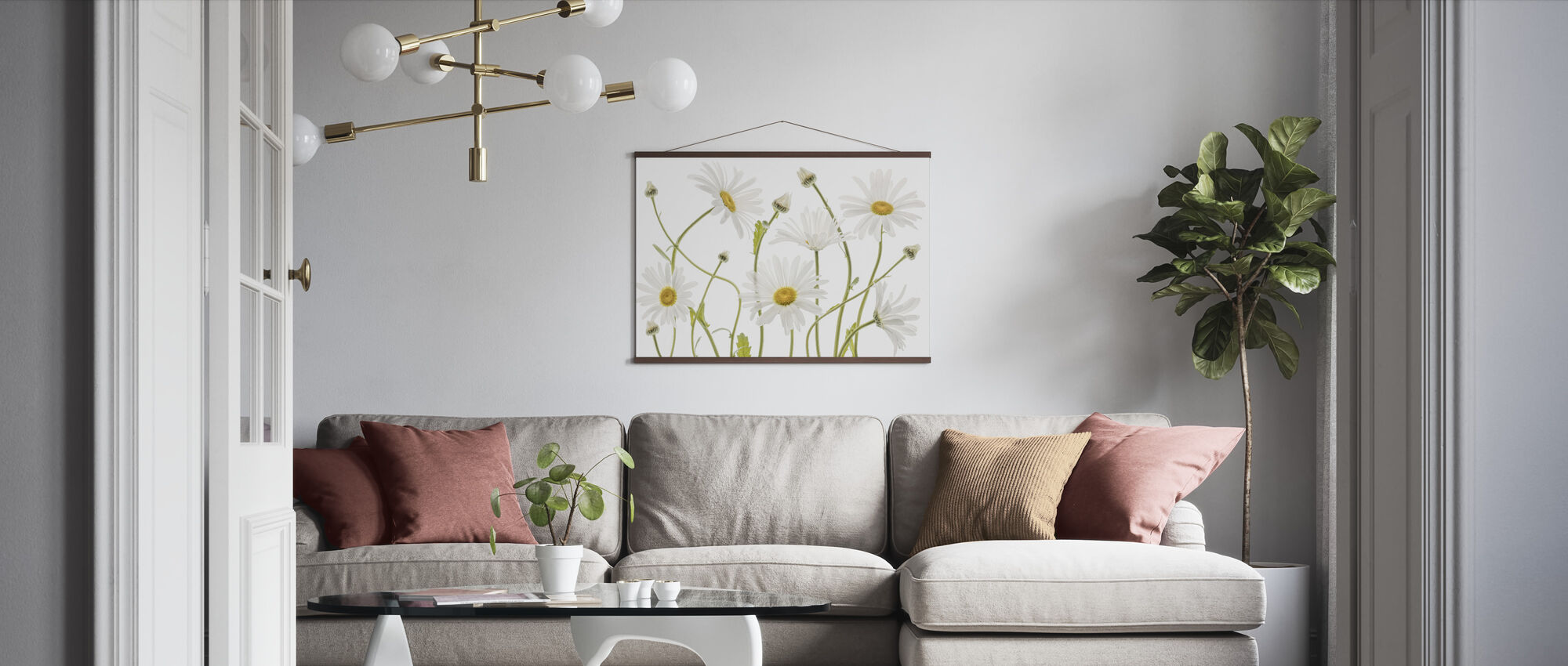 Ox Eye Daisies - Poster - Living Room