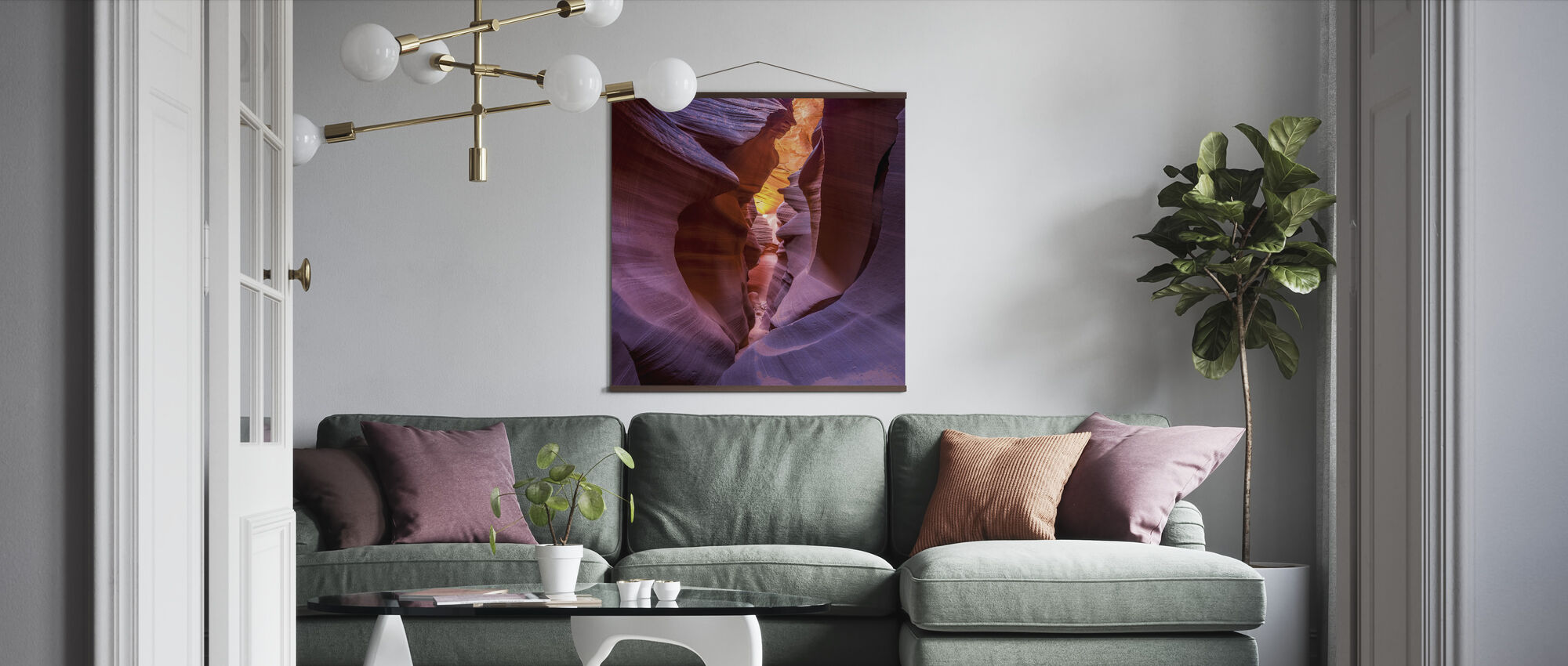 Fire in Canyon - Poster - Living Room