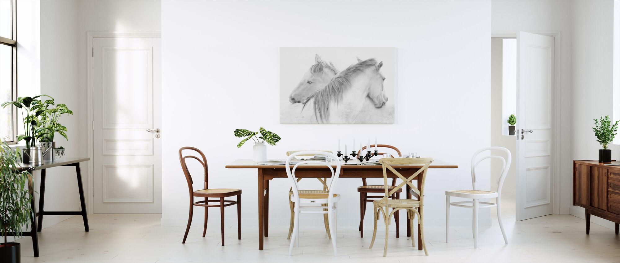 Horses - Canvas print - Kitchen