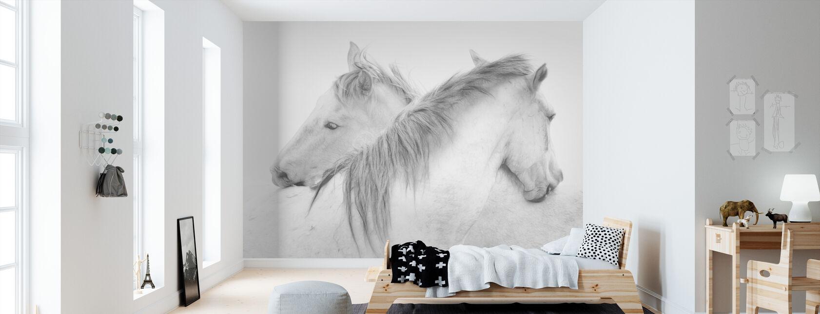 Heste - Tapet - Børneværelse