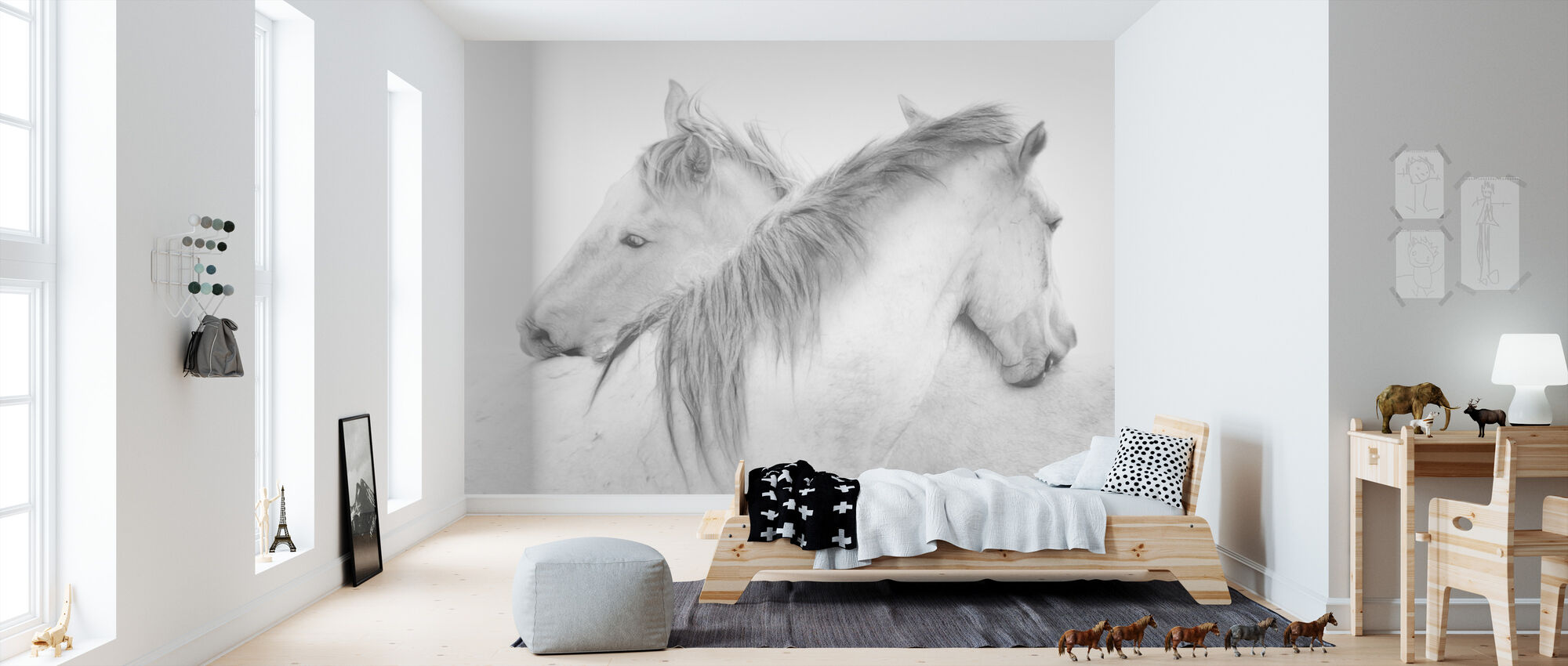 Horses - Wallpaper - Kids Room