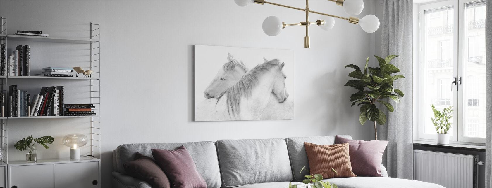 Hevoset - Canvastaulu - Olohuone