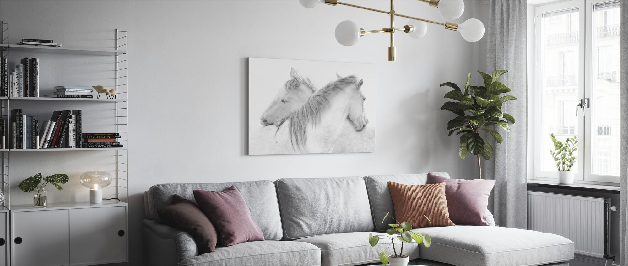 Horses - Canvas print - Living Room